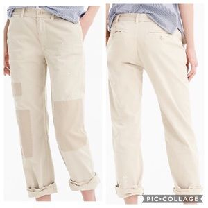 J. Crew Distressed Boyfriend Chino Pant Beige 12